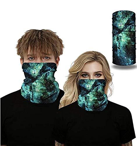 Seahouse UV Protection Face Neck Shields Headwear Bandana for Men Women Motorcycle Hiking Cycling Ski Snowboard Summer (Green)