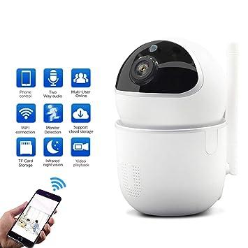 CáMara De Seguridad InaláMbrica Para El Hogar CáMara WiFi De Vigilancia HD Audio Bidireccional VisióN Nocturna Por Infrarrojos Alarma De DeteccióN De ...