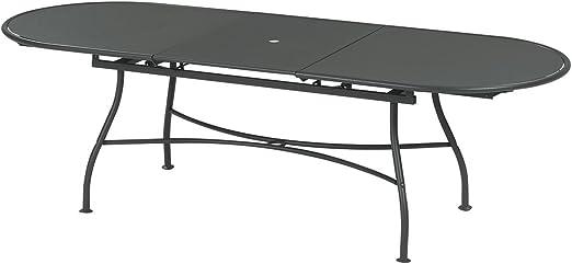 OASI by EMU Table de Jardin Ovale Extensible Acier 180 ...