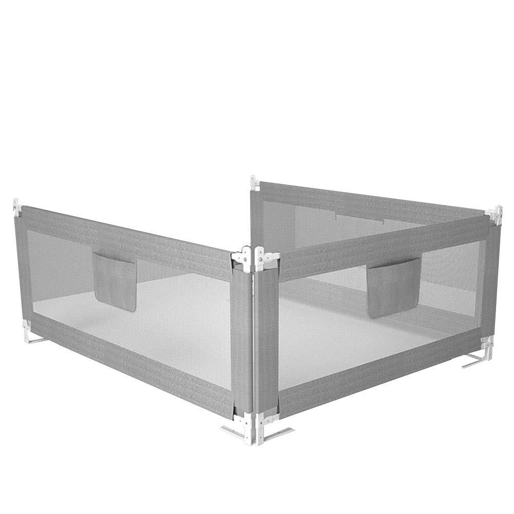 CQILONG ベッドレール3面保護垂直リフティングスペースを節約片手でのポータブル操作幼児向け、3色 2サイズ (色 : グレイ ぐれい, サイズ さいず : 200x150x68-95cm) 200x150x68-95cm グレイ ぐれい B07SCSTLF4