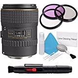 Tokina 100mm f/2.8 AT-X M100 AF Pro D Macro Autofocus Lens for Canon EOS (International Model) No Warranty+Deluxe Cleaning Kit + Lens Cleaning Pen + 55mm 3 Piece Filter Kit Bundle 4