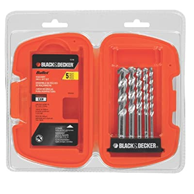 Black & Decker 16748 Bullet Rotary Masonry Drill Bit Set, 5-Piece
