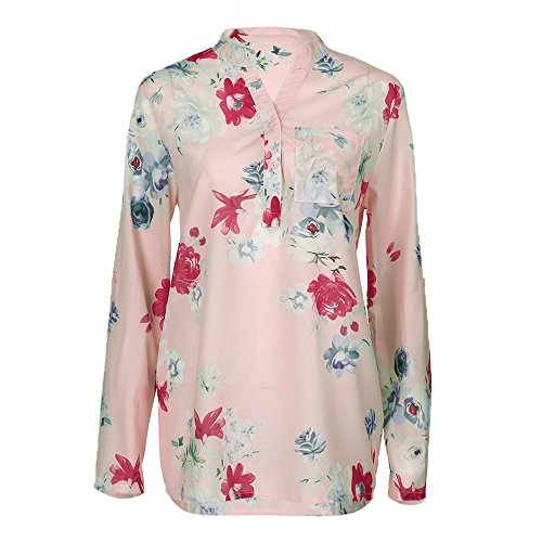 Amazon.com : Clearance!HOSOME Women Top Autumn Women Plus Size Chiffon Floral Print Long Sleeve Blouse Pullover Tops Shirt : Grocery & Gourmet Food