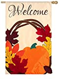 Evergreen Enterprises 158458 Welcome Wreath Regular Applique Flag
