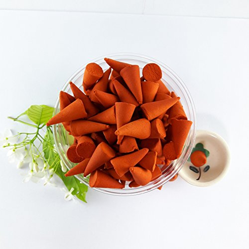 Incense Cones Moke Thai Floral Scents Spa Aromatherapy Home Fragrance with Small Ceramic Burner Holder Pack of 100 Pieces