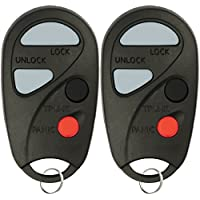 KeylessOption Keyless Entry Remote Control Car Key Fob Replacement for NHVBU427 (Pack of 2)