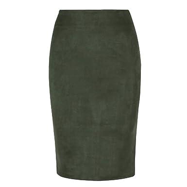 3fc073e9e5 Amazon.com: Sexy Multi Color Suede Midi Pencil Skirt Women 2019 ...