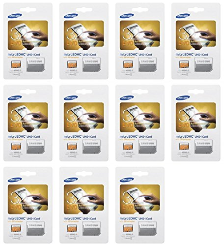11 x Quantity of Samsung Galaxy Tablet 4 32GB Micro SD Memory Card Ultra Class 10 SDHC up to 48MB/s with Adapter - FAST FREE SHIPPING FROM Orlando, Florida USA!
