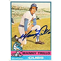 $26 » Autograph Warehouse 619568 Manny Trillo Autographed Baseball Card - Chicago Cubs - 1976 Topps No.206