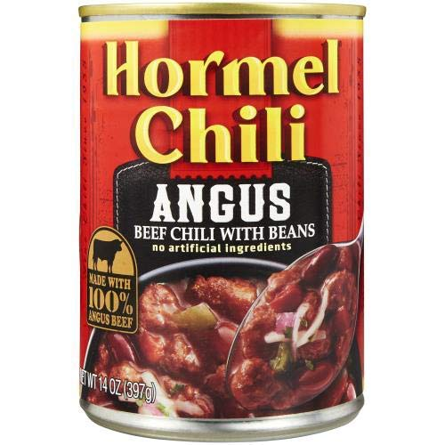 Hormel Chili Angus Beef Chili with Beans 14 Oz (Pack of 2)