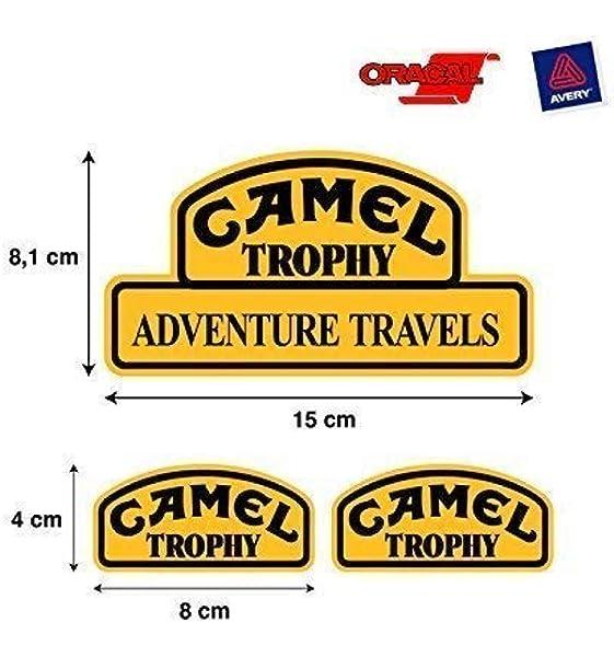 PEGATINA ADHESIVO CAMEL TROPHY LAND ROVER JEEP 4X4 ALTA CALIDAD 3 UNIDADES mod 1: Amazon.es: Coche y moto