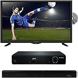 PROSCAN PLDV321300 32-Inch 720p 60Hz LED TV-DVD Combo with HDMI 1080p High Definition DVD Player and Vivitar 24-Inch Wall Mountable Wireless Bluetooth Soundbar
