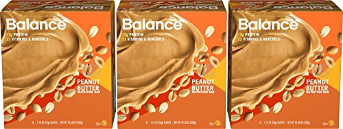 Balance Bar Peanut Butter Triple Pack, 18 Count (Pharmacy Balances)