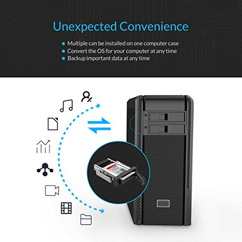 ORICO 1106SS 5.25 Trayless Hot Swap Mobile Rack CD-ROM 3.5 inch Internal SATA hard drive SSD adapter - Black by ORICO (Image #3)'