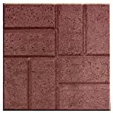 16'' X 16'' Brick Patio Pavers - Patios Walkways Dog Kennels - 12 pack - Red Brick