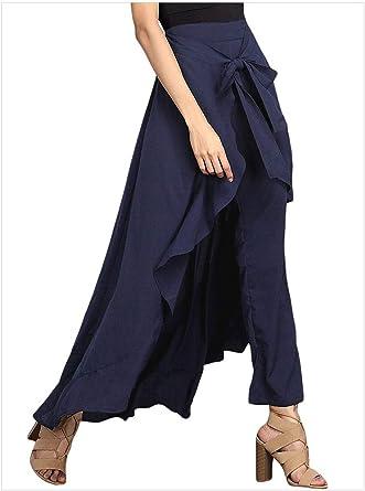 MUXAN Faldas Largas de Las Mujeres Falda Larga Falda Plisada de ...