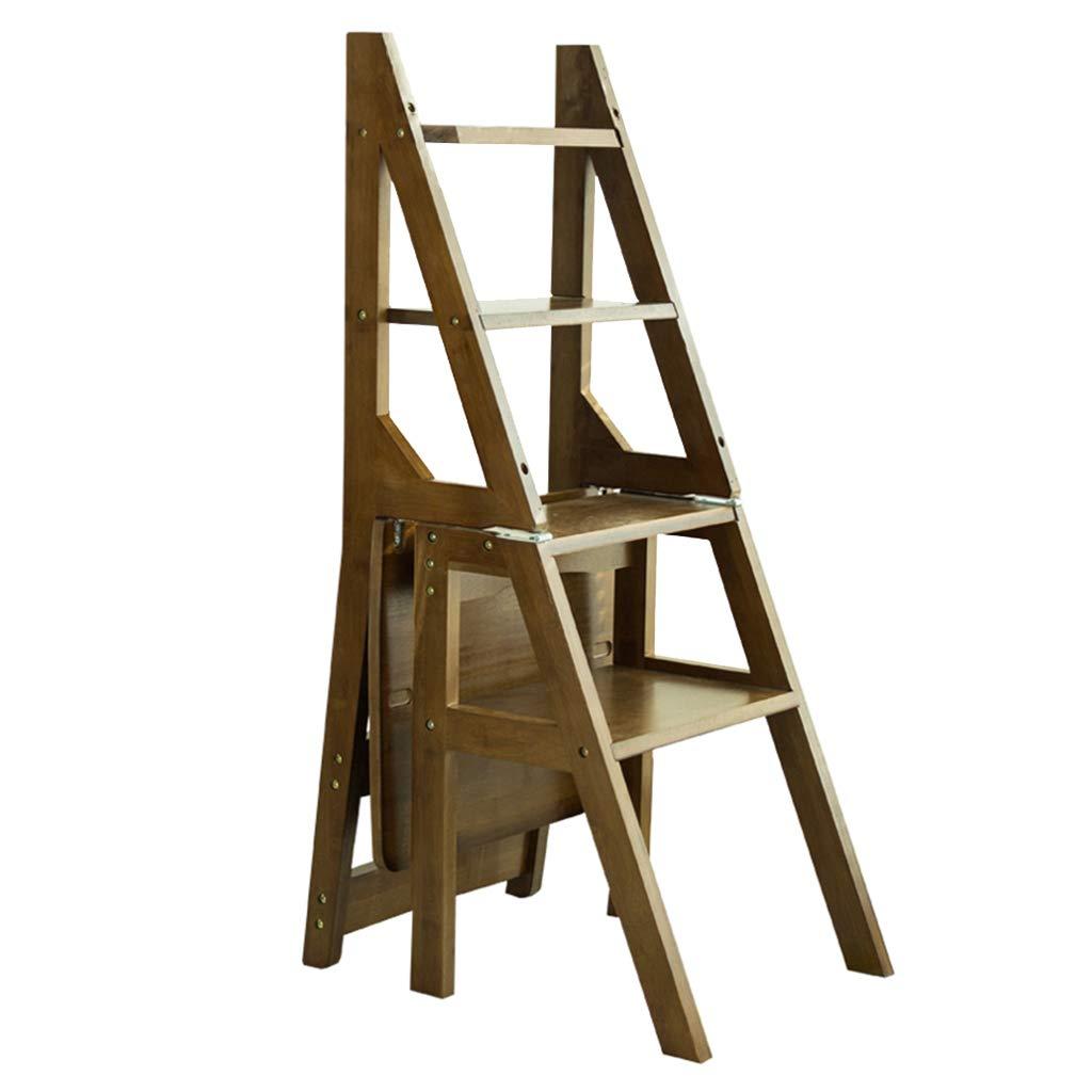 ホーム折りたたみステップスツール 階段チェア 竹の木 はしご脚立 大人と子供のための 多機能ポータブルシューベンチ/フラワーラック レトロ B07QFTSM4S