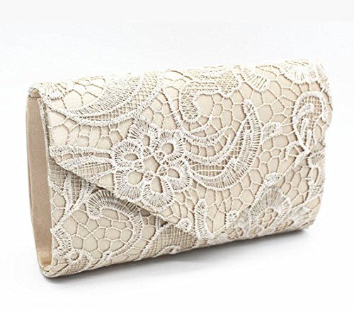 Lace Clutch khaki Bridal Women Purse Wedding Envelope Bag Evening Bridesmaid Bags 7174wfrq