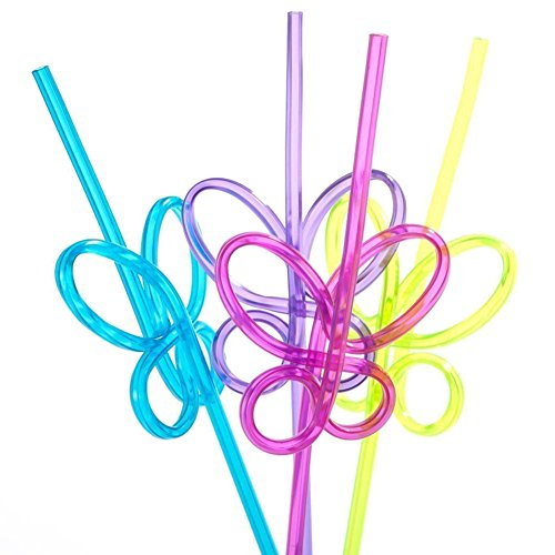 ISusser 50pcs Crazy Loop Straws, Crazy Reusable Drinking Straws In Assorted Colors, Great For Parties, Carnivals, Fun, BPA FREE