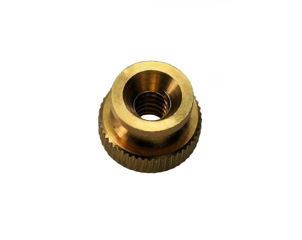 Brass QTY-10 UNICORP THN5009-M01-F16-0316 3//4 Round Knurled Thumb Nuts 3//8-16 THD x 3//4 OD