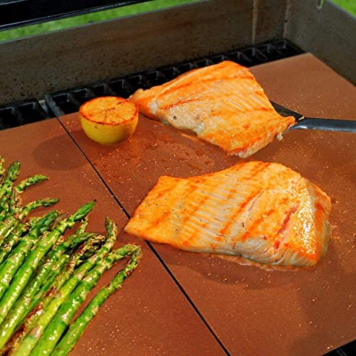 YLEI 3 pcs Tapis de Protection de Plancher de Barbecue, BBQ antiadhésif Durable et Feuille de grillade résistants à la Chaleur, faciles à Nettoyer