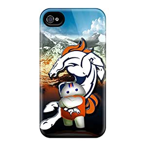 Scratch Protection Cell-phone Hard Cover For Iphone 6plus (eDp16754MXMk) Allow Personal Design Lifelike Denver Broncos Image