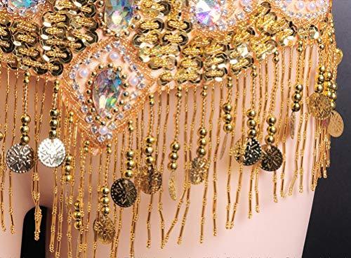 Femminile Set Cintura Del Wqwlf In L Rilievo Mano E Fata Silver Da Nappe Professionale Ventre Costume s Brillante Reggiseno Danza A Rhinestone Fatto Yff5Zrq