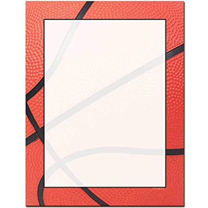 Basketball Letterhead Laser & Inkjet Printer Paper papel ...