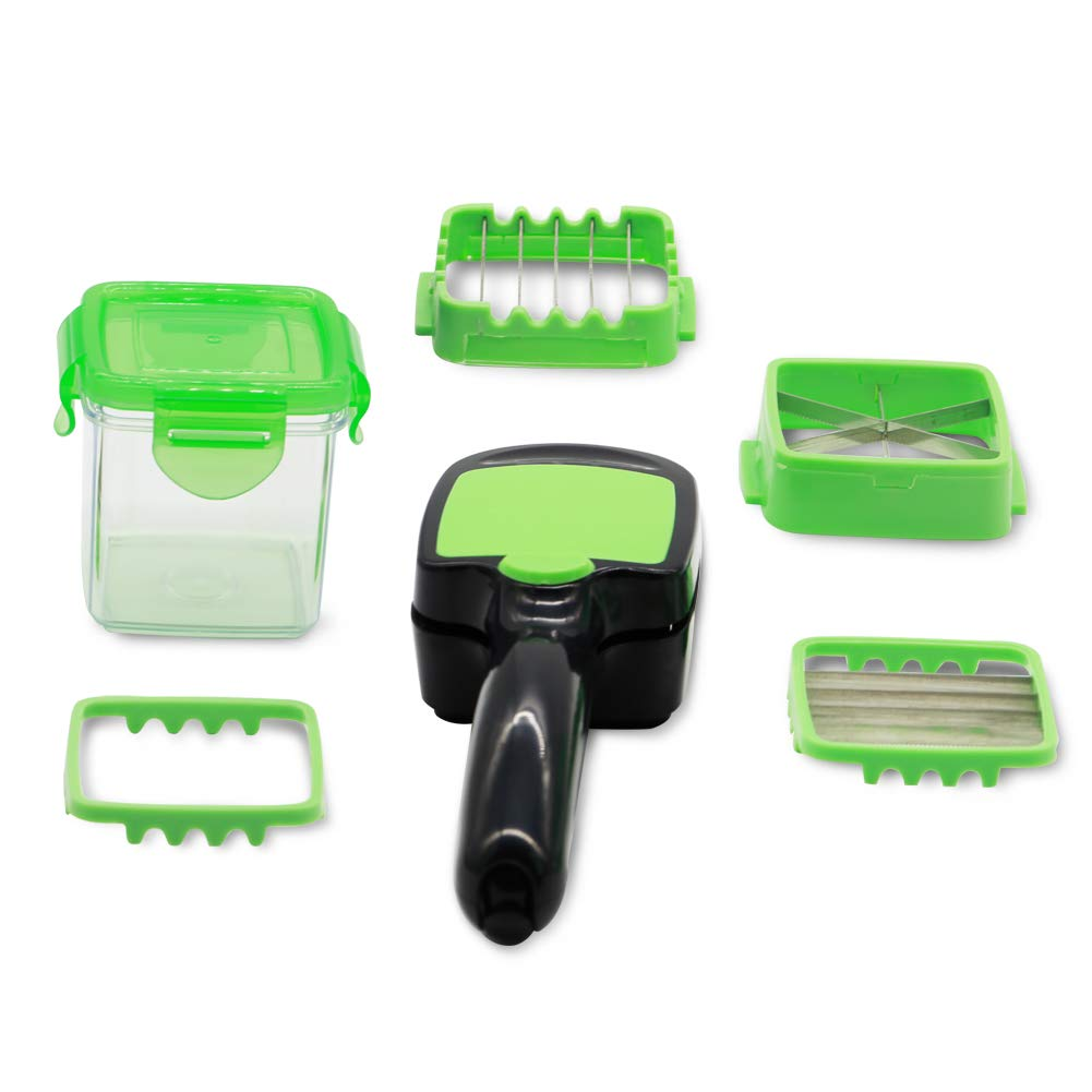 Vegetables Cutter, 5 In 1 Fruits Cutter Chopper Slicer Column Egg Cutter Crusher Perfect for Kitchen Cooking Xmas New Year Dinner Party (Green) by ASCENDAS (Image #6)