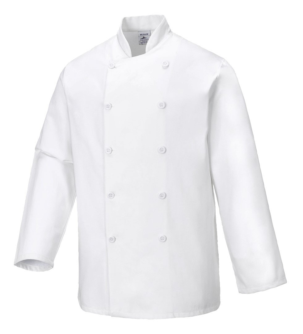 Portwest Workwear Mens Cotton Coat White 3 XL