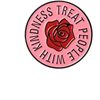 Comelyjewel Premium Quality English Letter Treat People with Kindness Badge Brooch Pin Clothes Scarf Jewelry