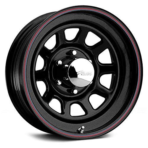 Hub 1500 Pickup (Pacer 342B Daytona Сustom Wheel - Black with Red and Blue Stripe 16