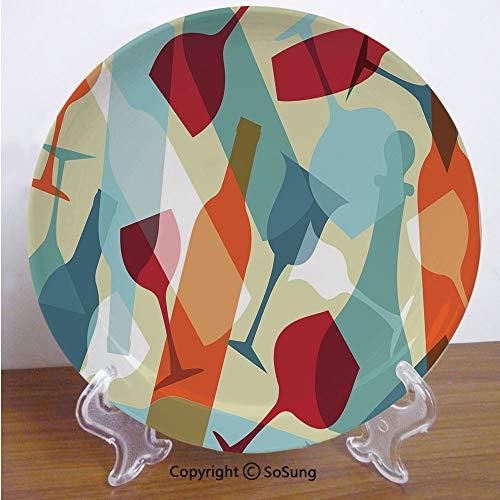 Ruby Matte Decorative Glass - Wine 8