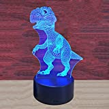 Stolife 3D Night Light Dinosaur Lamp, 7 Colors Change Illusion Lights with Acrylic Flat ABS Base USB Cable, Christmas Gift for Kids