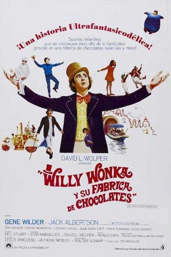 Willy Wonka and the Chocolate Factory Movie Poster (27 x 40 Inches - 69cm x 102cm) (1971) Spanish -(Gene Wilder)(Jack Albertson)(Denise Nickerson)(Peter Ostrum)(Roy Kinnear)(Aubrey Woods)
