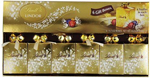 Lindt Chocolate Lindor Favor Box Collection, 6 Count (Favor Truffles)