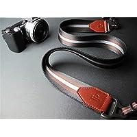 Hwota Luxury Real Leather + Thick Nylon + Metal Camera Strap Neck Strap for Fuji X-Pro 2 Fujifilm X Pro2 - Black