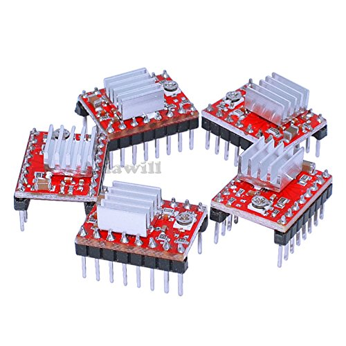 Asiawill A4988 Stepper Motor Driver Module w/ Heat Sink (5 PCS) by Asiawill