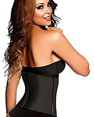 Ann Chery Waist Trainer And Shaper - Black 3 Hook Latex Waist Cincher Belt - By