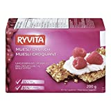 RYVITA Muesli Crunch Wholegrain Rye Crispbread, 10-Count