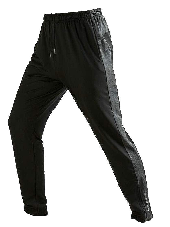Etecredpow Mens Elastic Waist Color Block Exercise Sports Fashion Pants