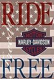 Harley Davidson Ride Free Garden Flag
