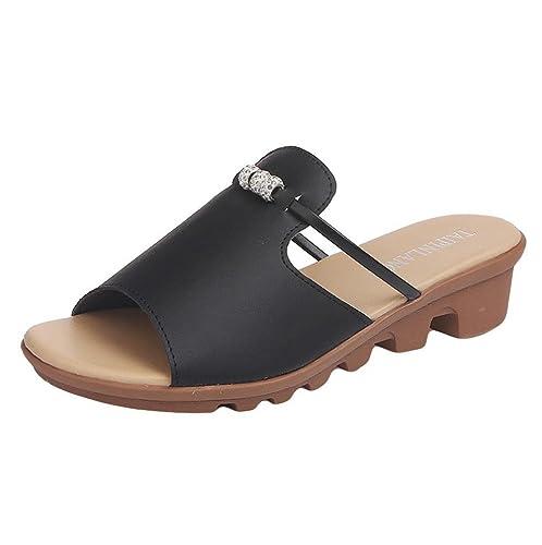 b09e2c1cae78 Lolittas Sandals Summer Diamante Wedge Sandals for Women Ladies ...