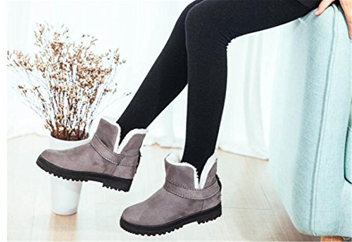 Slip On Boots Snow Botas Annie Big Woman for Gray Flats Shoes Female Better Casual Size Mid Students Calf Boots Winter Women Flats PwIqfz