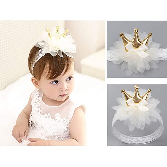 Hair Accessories Cute Girl Baby Toddler Infant Flower Headband Hair Bow Band Accessories Ivory Baby & Toddler Clothing Durable Service