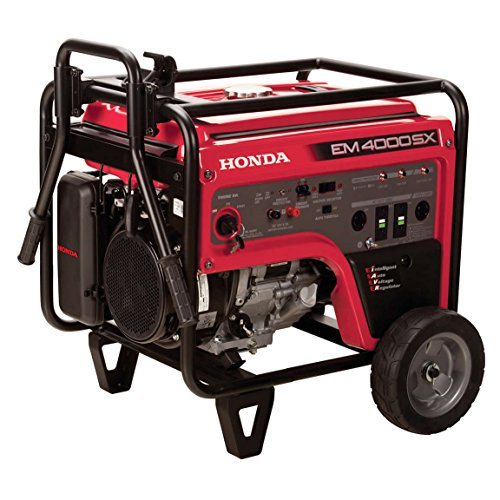 Honda Power Equipment EM4000SXAT 4,000W Portable Generator with iAVR Technology CARB, Steel