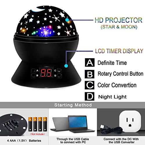 Juguetes para niños de 4-5 años, Wiki Fun Cool Toys Lámpara de noche para niños Relax Star Moon Juguetes de luz para niños de 6-10 años Juguetes para niños ...