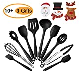 Silicone Kitchen Utensil Set - Heat-Resistant Cooking Utensils Non-Stick Rubber Utensils Spatula Set Cookware Set 10 Piece Cooking Tools