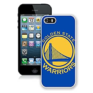 New Custom Design Cover Case For iPhone 5s Generation golden state warriors 1 White Phone Case