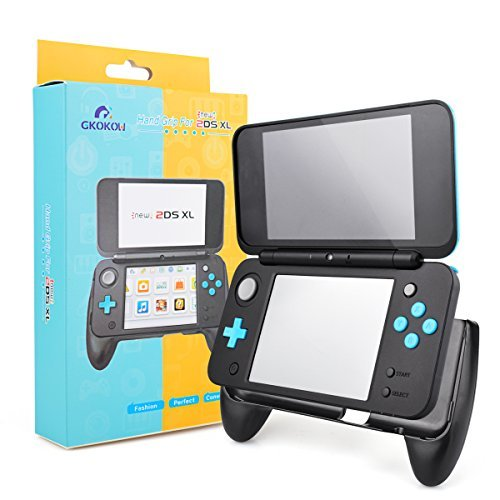 New 2DS XL LL 2017 Controller Hand Grip Protective Cover Comfort with Stand for Nintendo